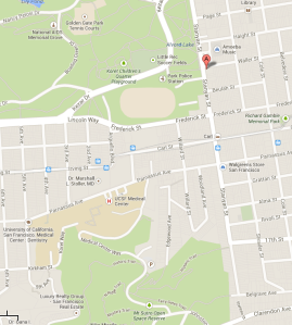 Stanyan Park Hotel Google Map Shot
